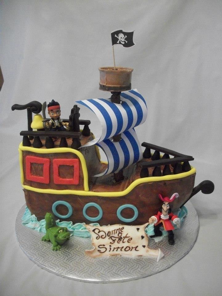 Gateau jake et les pirate